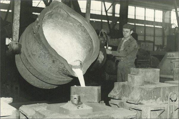 Slévárna v roce 1953