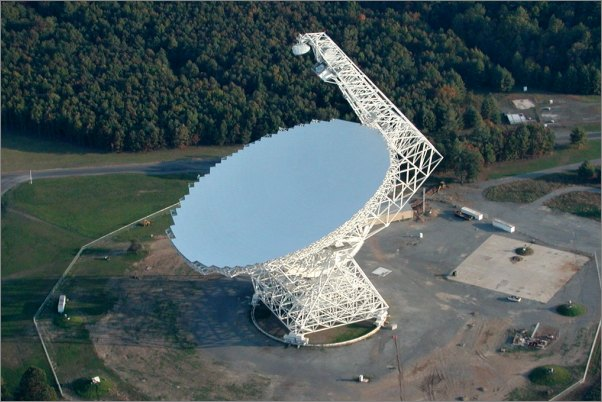 Teleskop Green Bank /Zdroj: nanograv.org/