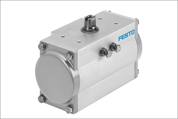 Univerzální, robustní a pro extrémní použití – nový čtvrtotáčkový pohon DFPD pro použití v procesní automatizaci. (Foto: Festo AG & Co. KG)
