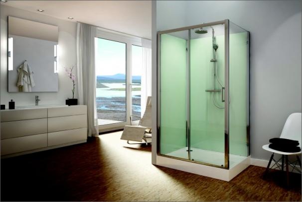 Koncepce kompletní sprchové kabiny MODUL 1400 umožňuje až 200 kombinací
