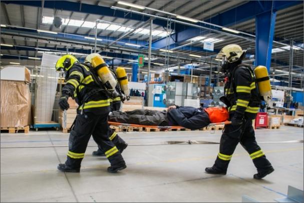 Lindab simuloval výbuch v lakovně jako součást svého systému prevence
