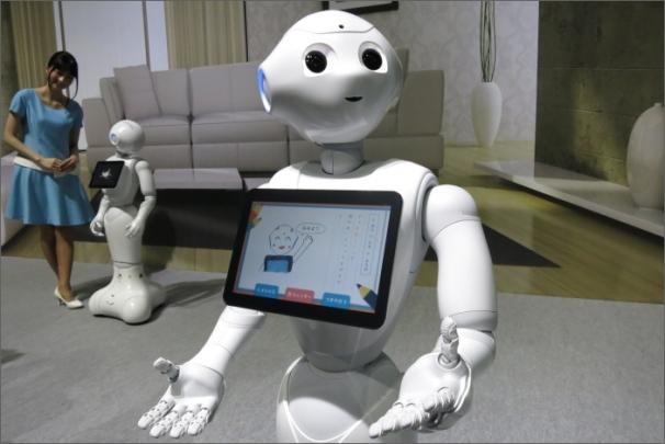 Inteligentní robot Pepper se loni v červnu poprvé objevil v Japonsku.
