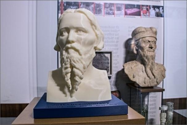 Busta Jošta Lucemburského - hlavní plastový model