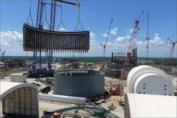 Instalace 2 modulů na elektrárně V.C. Summer /Foto: SCE&G/