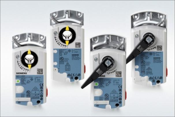 Nové modely a funkce pohonů pro klapky Siemens OpenAir