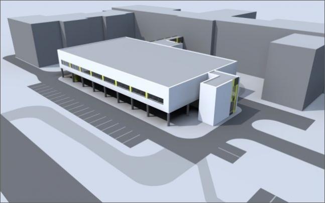 Vizualizace pavilonu pro operační sály v teplické nemocnici