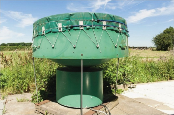 Vertikální entomologický radar v Rothamstedu /Zdroj: Rothamsted Visual Communications Unit/