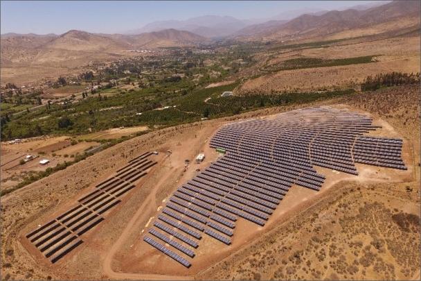Letecký pohled na Parque Solar Cuz Cuz