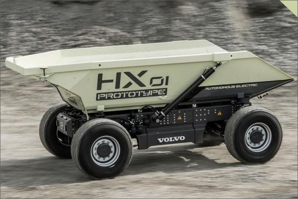 Revoluční koncepcí elektricky poháněného autonomního nákladního vozidla společnosti Volvo Contruction Equipment