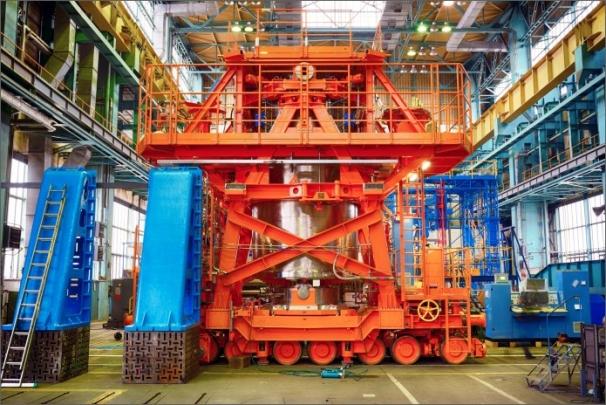Zařízení zajišťuje celý proces vyvážení kontejneru s použitým jaderným palivem