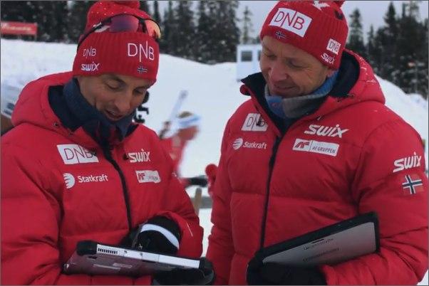 Trenéři mají díky Toughbooku přehled o závodu a mohou si udělat obrázek o výkonu lyžaře