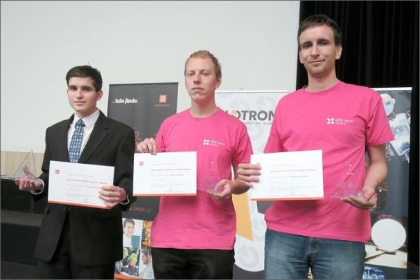 Tři nejlepší. Jan Petr, Pavel Turek, Filip Bialas (zleva)