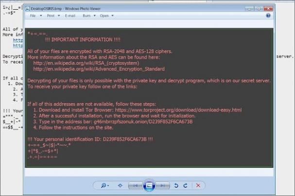 Zpráva po zašifrování