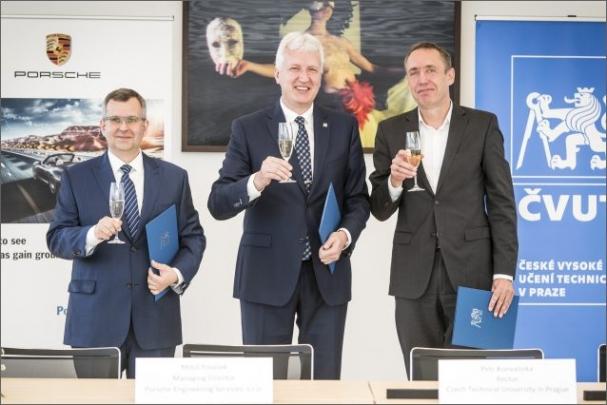 ČVUT v Praze rozšiřuje spolupráci se společností Porsche Engineering Services