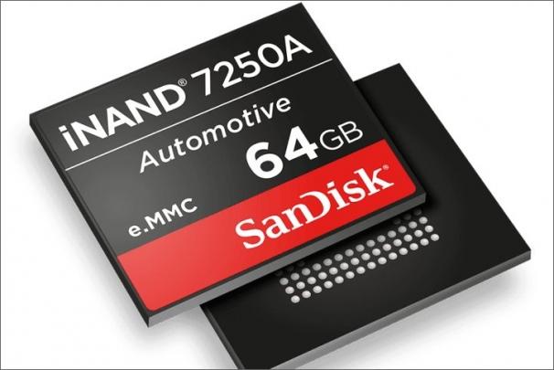 Western Digital uvádí úložiště iNAND 7250A SanDisk určené pro rostoucí potřeby automobilového průmyslu