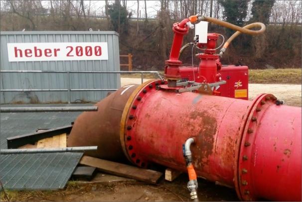 Nízkoenergetický systém pro převádění vody Heber 2000 se uplatnil v rámci projektu výstavby MVE v italském Lonate Pozzolo