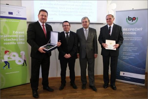 Výrobní závod Siemens v Mohelnici získal již potřetí ocenění Bezpečný podnik