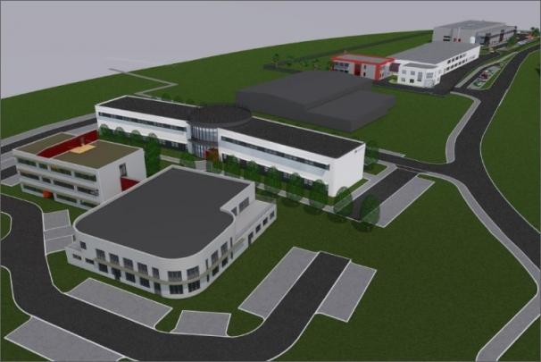 Vizualizace nově budovaného vědeckotechnického park
