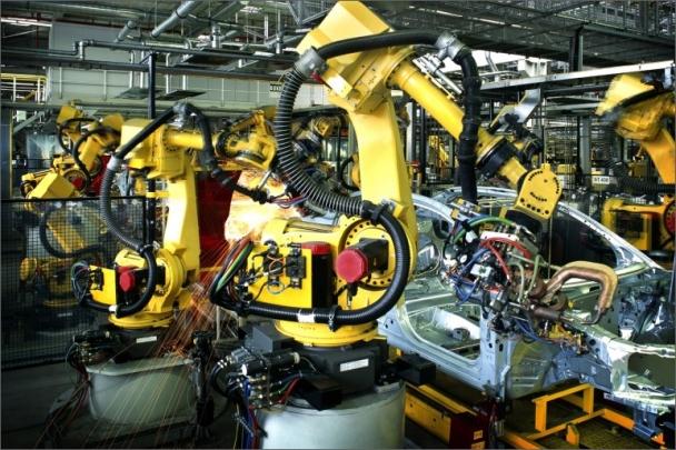 Lineární vedení robotizovaného svařovacího zařízení je vystaveno náročným provozním podmínkám