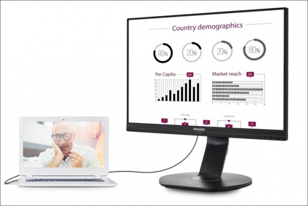 Nový dokovací USB monitor Philips