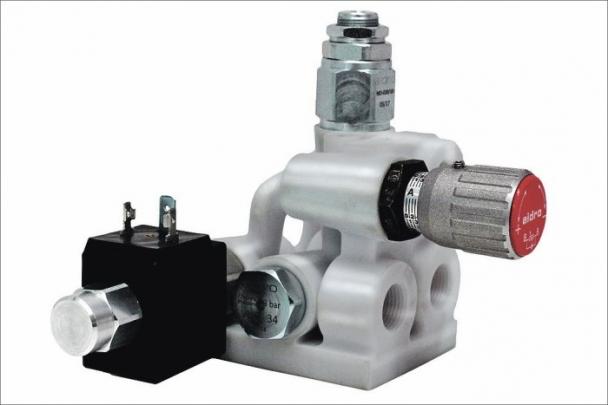 Hydraulický ventil z vyrobený 2D tiskem nerezové oceli na veletrhu prezentovala italská společnost Aidro