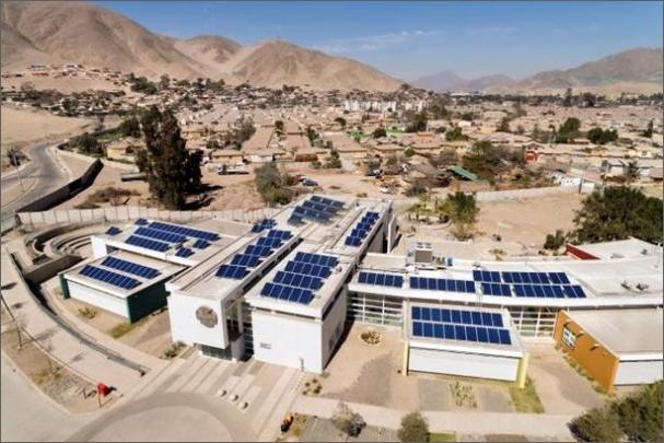 Od roku 2015 chilská vláda prostřednictvím čtyřletého podpůrného programu podporuje výstavbu fotovoltaických systémů na veřejných budovách