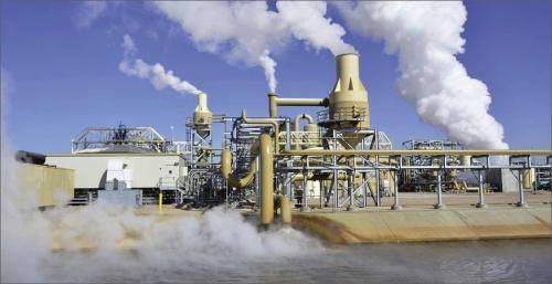 Nejvýkonnější geotermální elektrárna světa The Geysers (1 540 MW).