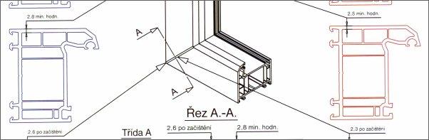 Porovnání plastových okenních profilů třídy A a B