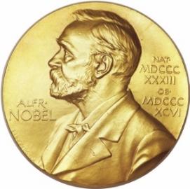 Nobelova medaile. V tomto konkrétním případě jde o medaili za medicínu, kterou získal Francis Crick za objev struktury DNA. V dubnu 2013 ji jeho dědicové prodali za dva miliony dolarů