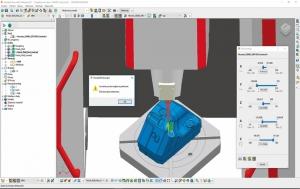 Kinematická simulace přetočení stroje u 5osého frézování v Autodesk PowerMill