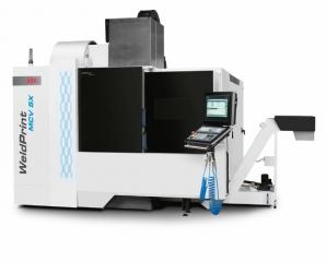 Stroj WeldPrint firmy Kovosvit MAS schopný realizovat dílce technologiemi aditivní výroby a třískového obrábění