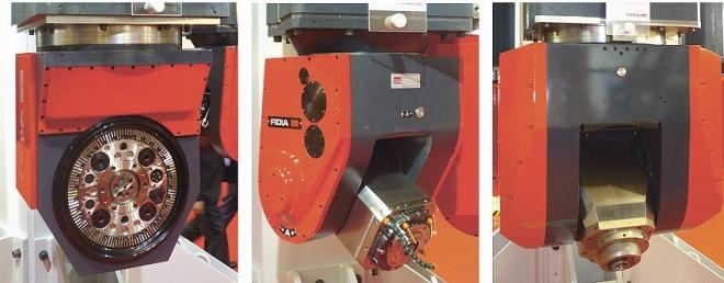 Plejáda výměnných frézovacích hlav strojů FIDIA