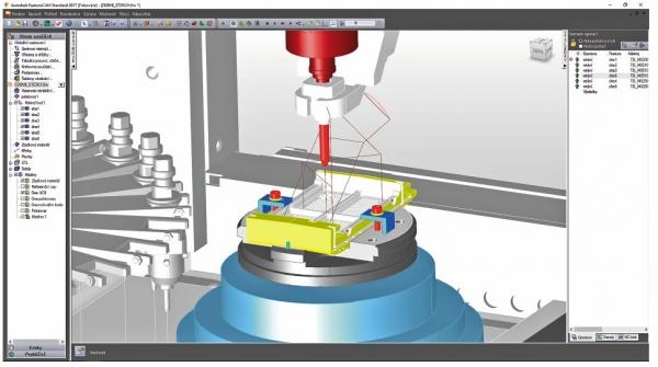 Simulace EDM vrtání ve FeatureCAM pro stroj EDBV 8