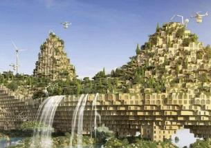Architekt Vincent Callebaut navrhuje přestavět Mosul pomocí 3D tiskáren a přeměnit ho v zelený ráj