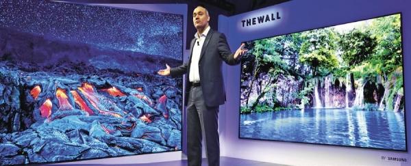 Televize Samsung jako stěna