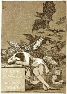 """Říše snů zdaleka není jen místem klidu a odpočinku, ale je plná protivníků a monster. Jako na známém leptu Francisca Goyi """"Spánek rozumu plodí monstra""""."""