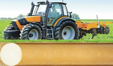Nový polotovar z materiálu iglidur® Q2 disponuje velkou odolností proti opotřebení při extrémním zatížení. Výborně se hodí pro těžké provozy jako je zemědělství nebo stavebnictví. (Zdroj: igus/HENNLICH)