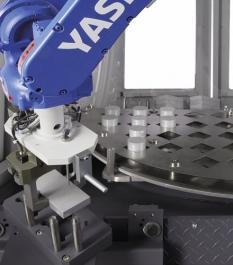 Robotické zápěstí je optimálně chráněno proti pronikání obráběcích zbytků a chladicích maziv