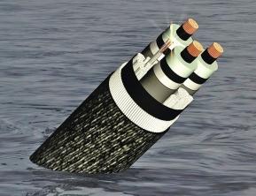 Osm párů optických vláken, napájecí i senzorové vodiče kabelu MAREA skrývá vícenásobný hliníkový a ocelový plášť chráněný proti zubům žraloků kevlarovým potahem