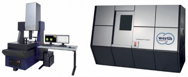 """Obr. 1.1: Multisenzorový měřicí přístroj (vlevo). Obr. 1.2: Počítačový tomograf """"CTéčko"""" (vpravo)"""