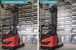 Vertikální úhel osvětlení lze individuálně přizpůsobit požadavkům daného provozu
