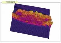 Obrázek 3: 3D zobrazení teplotních polí