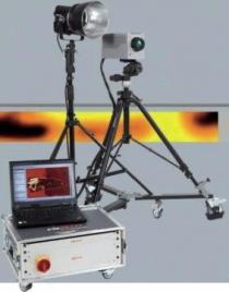 Obrázek 4: Optická aktivní termografie