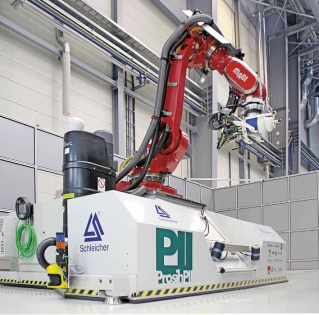 Mobilní CNC robot z IFAM pro obrábění rozměrných objektů