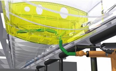 Flexibilní osmikloubový robot IWU může ve svém chapadlu nést pracovní nástroj nebo kameru o hmotnosti až 15 kg