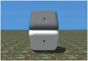 Obrázek 3 - které plocha je tmavší?