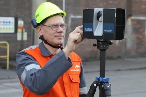Při projektování nových technologií i zlepšování bezpečnosti pomůže v huti ArcelorMittal Ostrava 3D skener