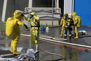 Taktické cvičení: Únik čpavku v elektrárně zalarmoval hasiče v Ústeckém kraji