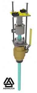 Sonda s ventilem a závitovými tyčemi pro montáž za provozu