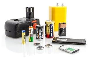 Běžné baterie patřící do sběrných nádob